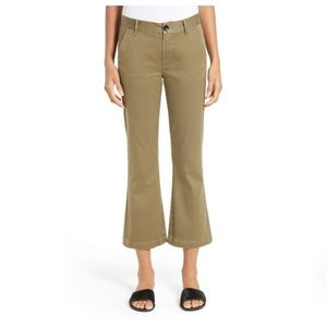Frame Le Crop Mini Boot Chinos In Desert Tan